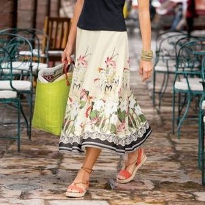 Soft surroundings spring meadow skirt